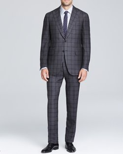 Canali  - Taormina Windowpane Check Suit - Classic Fit