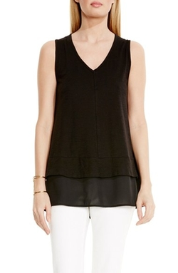 Two By Vince Camuto  - Cotton Slub V-Neck Tank Top