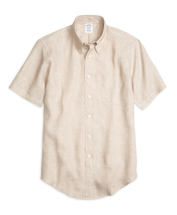 Brooks Brothers - Regent Fit Linen Short-Sleeve Sport Shirt