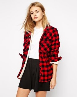 Only  - Fleece Lining Checked Shirt