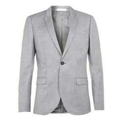 Topman - Crosshatch Skinny Fit Suit Jacket