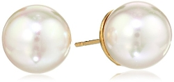 Majorica  - Simulated Pearl Stud Earrings
