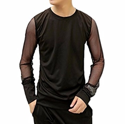 Mokewen - See Through Mesh Long Sleeve T-Shirt