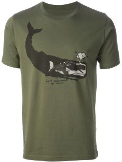 PAUL SMITH RED EAR  - whale print t-shirt
