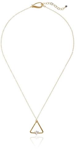 Kris Nations - Swarovski Crystal Triangle Necklace