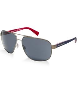 Dolce & Gabbana - Gunmetal Aviator Sunglasses