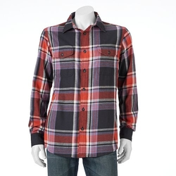 Sonoma Life + Style - Flannel Button-Down Shirt