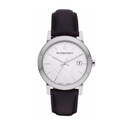Burberry - Sunray White Dial Check Watch
