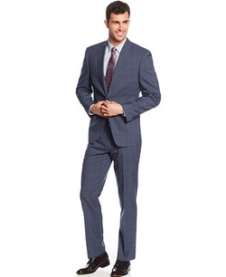 Tallia - Glen Plaid Slim-Fit Suit
