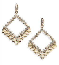 Allen Schwartz Jewelry  - Geometric Fringe Drop Earrings