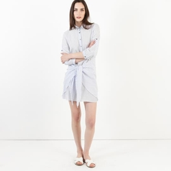 Modern Citizen - Lena Tie-Front Striped Shirtdress