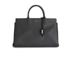 Saint Laurent - Rive Gauche Medium Leather & Suede Tote Bag