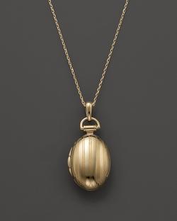 Monica Rich Kosann - Petite Pinstripe Locket Necklace