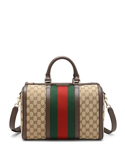 Gucci - Vintage Web Boston Bag