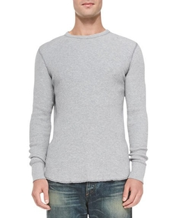 Rag & Bone - Waffle-Knit Crewneck Shirt
