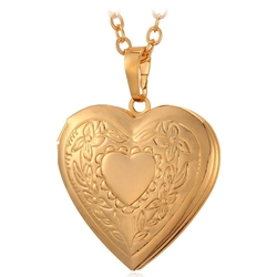 U7  - Charm Necklace Platinum/Gold Plated Locket Pendant