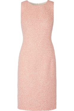 Oscar De La Renta - Metallic Bouclé-Tweed Dress