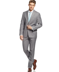 Kenneth Cole Reaction - Sharkskin Peak Lapel Suit