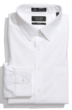 Nordstrom - Trim Fit Solid Pinpoint Dress Shirt