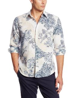 Cubavera  - Long Sleeve Showstopper Paisley Printed Shirt