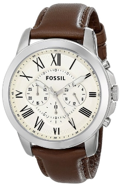 Fossil  - Grant Brown Leather Watch