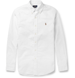 Polo Ralph Lauren   - Slim-Fit Cotton Oxford Shirt