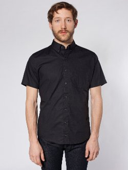 American Apparel - Rigo Cotton Short Sleeve Button-Down Shirt