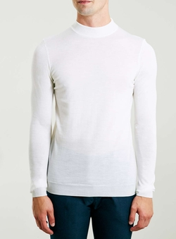 Topman - Merino Off White Turtle Neck Sweater