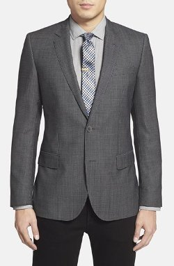 Boss Hugo Boss  - Hutch Trim Fit Check Wool Sport Coat