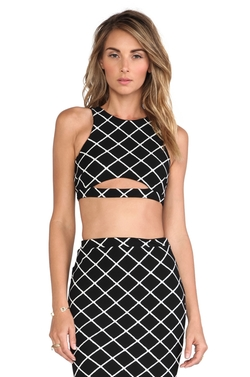 Nookie - Bowie Check Crop Top
