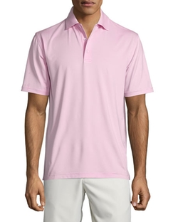 Peter Millar  - Solid Jersey Short-Sleeve Polo Shirt