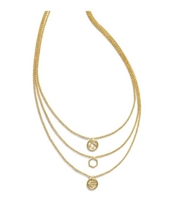 Tory Burch - Perforated Charm Triple-Strand Necklace