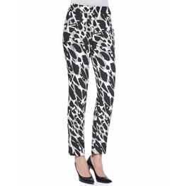 Escada  - Tina Marble-Print Slim-Leg Pants
