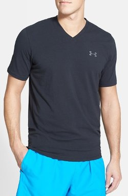 Under Armour  - Moisture Wicking Charged Cotton V-Neck Shirt