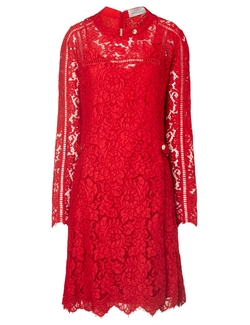 Preen by Thornton Bregazzi - Lace Dropped Waist Dress