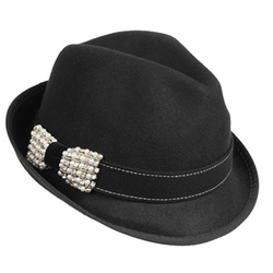 Scala - Sparkle Bow Fedora Hat