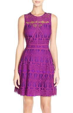 Adelyn Rae  - Sleeveless Lace Fit & Flare Dress