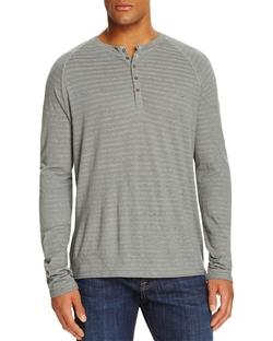 M Singer - Stripe Henley Tee Shirt