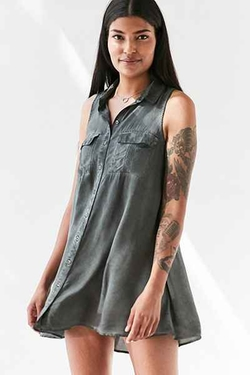 Silence + Noise  - Billie Washed Mini Shirt Dress