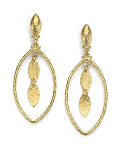 Gurhan  - Yellow Gold Marquis Drop Earrings