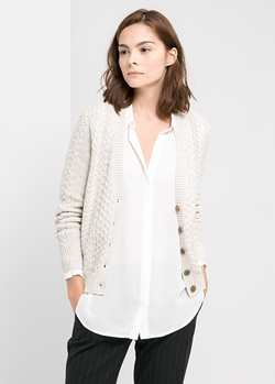 Mango - Cable Knit Cardigan