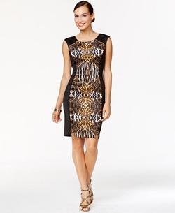 Thalia Sodi - Ikat-Print Sheath Dress