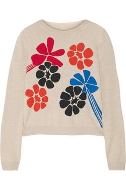 Alice + Olivia - Intarsia Cotton-Blend Sweater