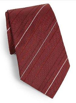 Armani Collezioni - Diagonal Striped Silk Tie