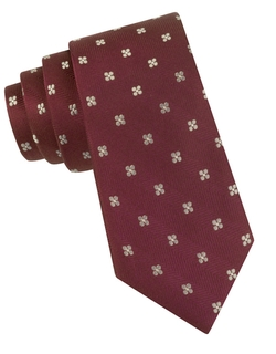 Black Brown 1826 - Silk Floral Print Tie