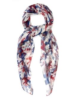 Alexander Mcqueen  - Camouflage Print Silk Scarf