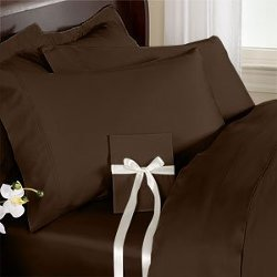 Sheetsnthings - Solid Chocolate Cal king Waterbed Sheet Set