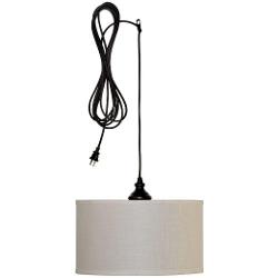 Hampton Bay - Carroll 1-Light Oil Drum Pendant Lamp