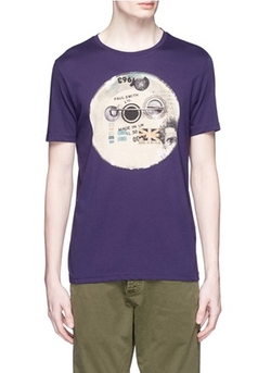 Paul Smith Jeans - Badge Print Organic Cotton T-Shirt