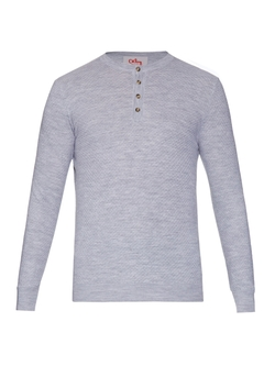Orley - Moss-Stitch Merino-Wool Henley Shirt